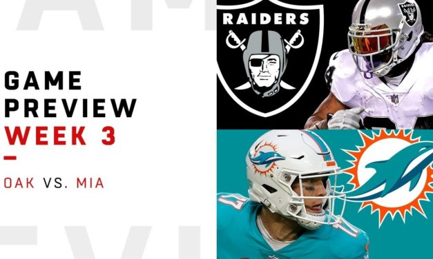 DT Daily 9/22: Raiders-Dolphins Preview and Prediction