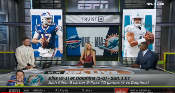 ESPN NFL Live Preview Dolphins vs the Bills this Sunday