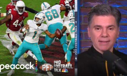 Mike Florio and Chris Simms of NBC Sports Talk Tua