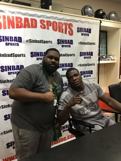 Pictures of Frank Gore at Sinbad Sports VIP Autograph Signing