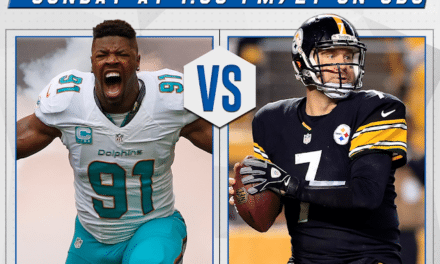 Playoff Game: Dolphins @ Steelers Sunday 1pm