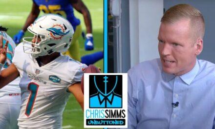 Chris Simms Talks More about having Tua 34th in his QB Rankings