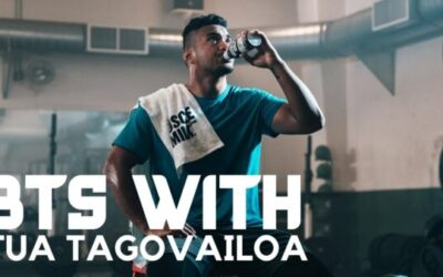 BEHIND THE SCENES: Tua Tagovailoa Filming a National Commercial for Muscle Milk
