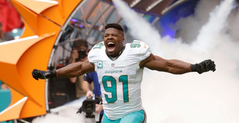Cam Wake Leaves Dolphins & Signs with Titans