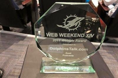 DolphinsTalk.com Wins 2017 Webbie Award for Best Miami Dolphins Podcast