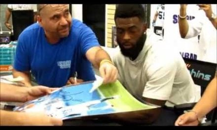 EXCLUSIVE VIDEO: Reshad Jones autograph signing last week at Sinbad Sports