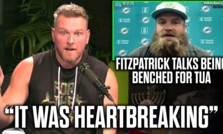 Pat McAfee on the Ryan Fitzpatrick Benching